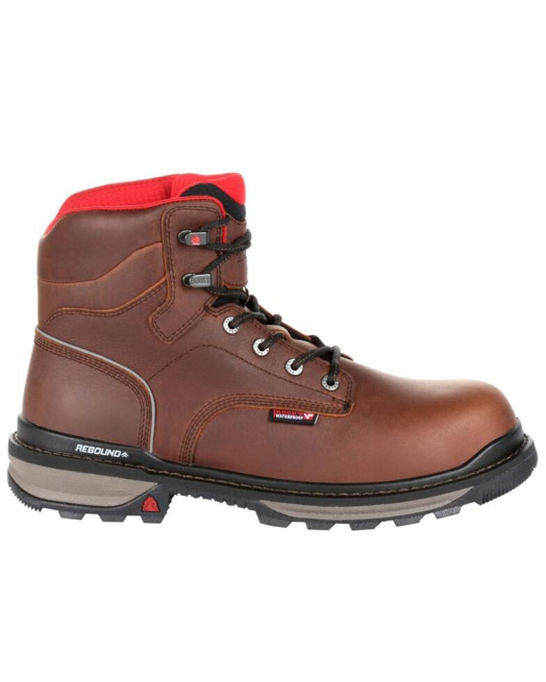 Rocky Men's Rams Horn Waterproof Work Boots - Composite Toe, Dark Brown, hi-res
