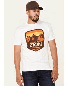 National Park Foundation Men's Zion Yellow Cloud Wash Graphic Short Sleeve T-Shirt - Big, Multi, hi-res