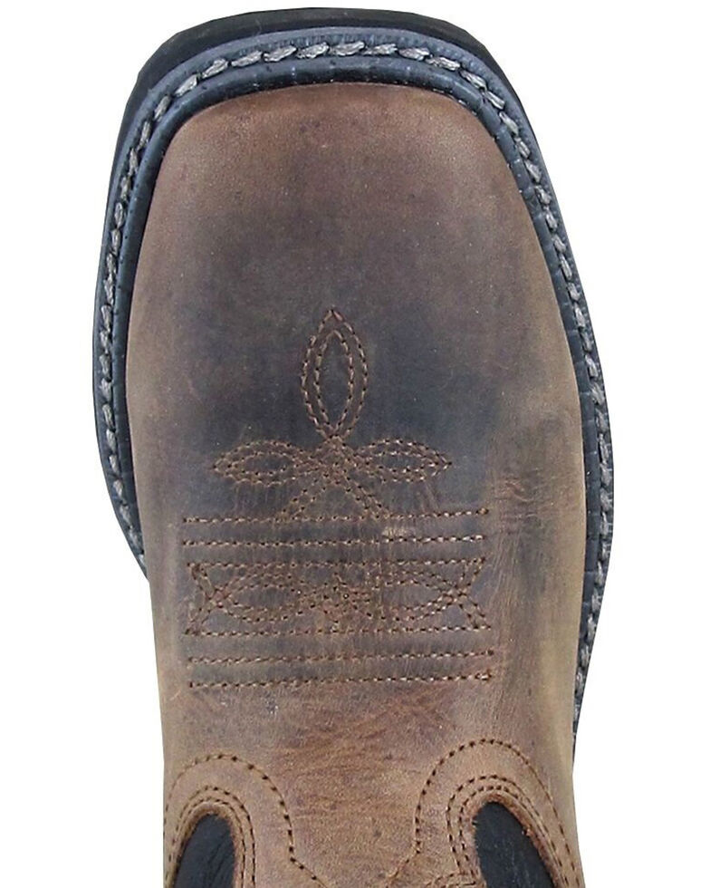 Smoky Mountain Youth Boys' Stampede Western Boots - Square Toe, Brown, hi-res