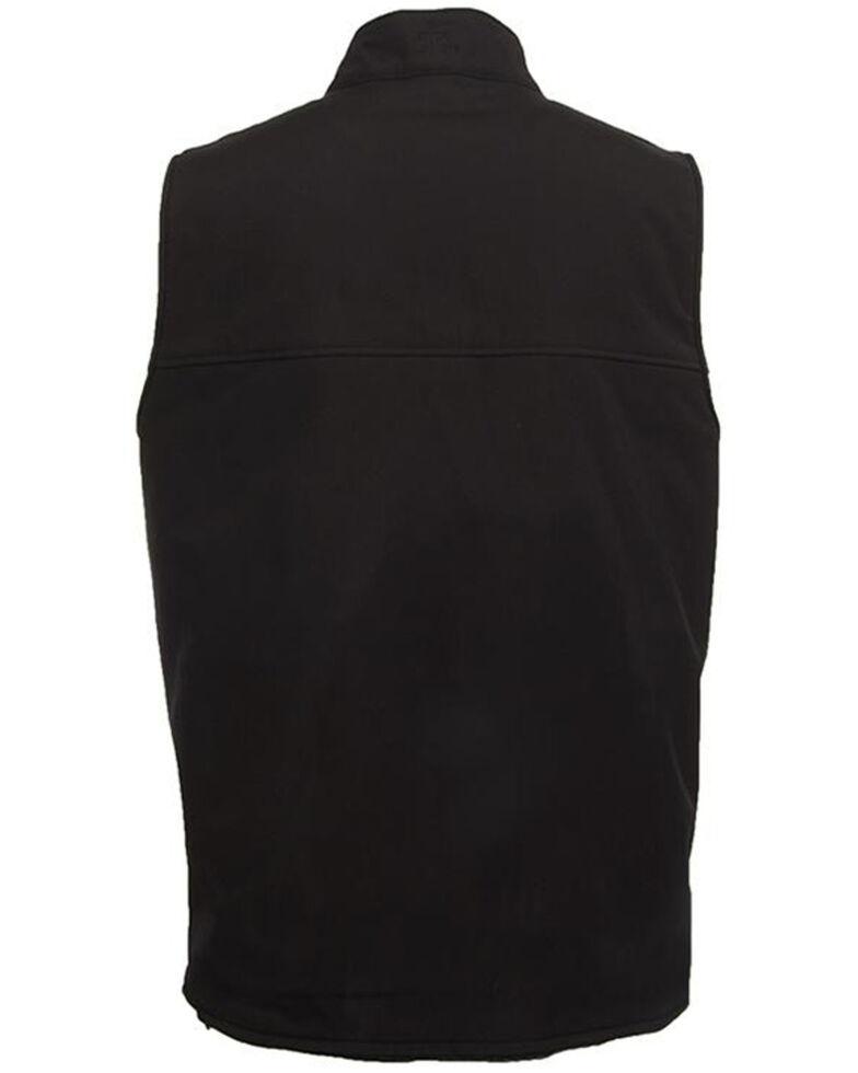 STS Ranchwear Men's Ewing Reversible Softshell Wool Vest , Black, hi-res
