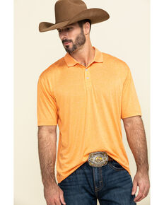 Cody James Core Men's Orange Tonal Short Sleeve Polo Shirt , Orange, hi-res