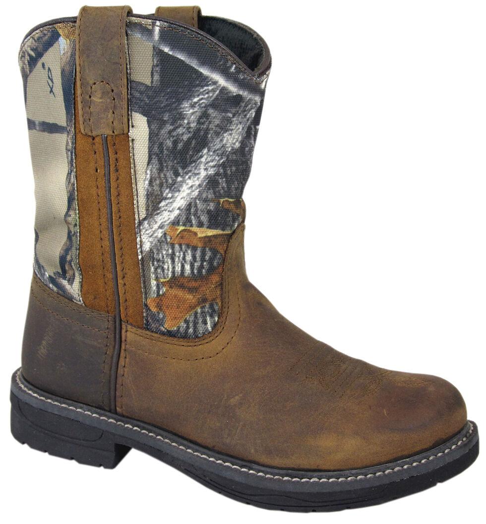 Smoky Mountain Boys' Buffalo Wellington Western Boots - Round Toe, Brown, hi-res