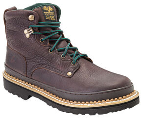 "Georgia Boots Women's 6"" Giant Work Boots - Steel Toe, Brown, hi-res"