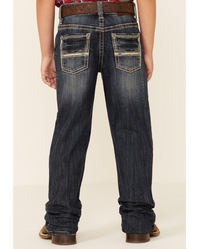 Rock & Roll Denim Boys' Dark Vintage Reflex Stretch Regular Bootcut Jeans , Indigo, hi-res