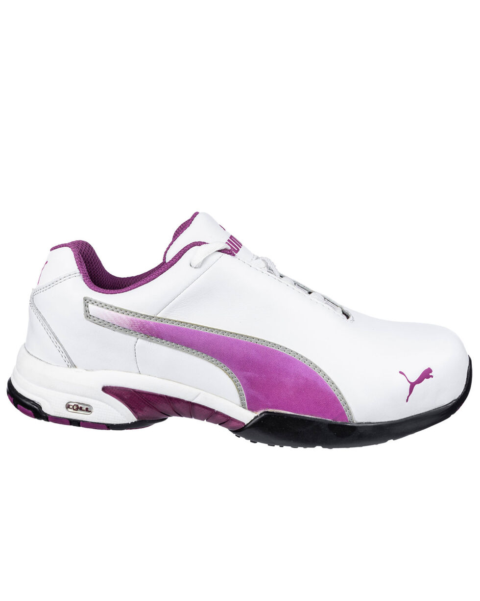 Puma Women's White Velocity Low Work Shoes - Steel Toe , White, hi-res