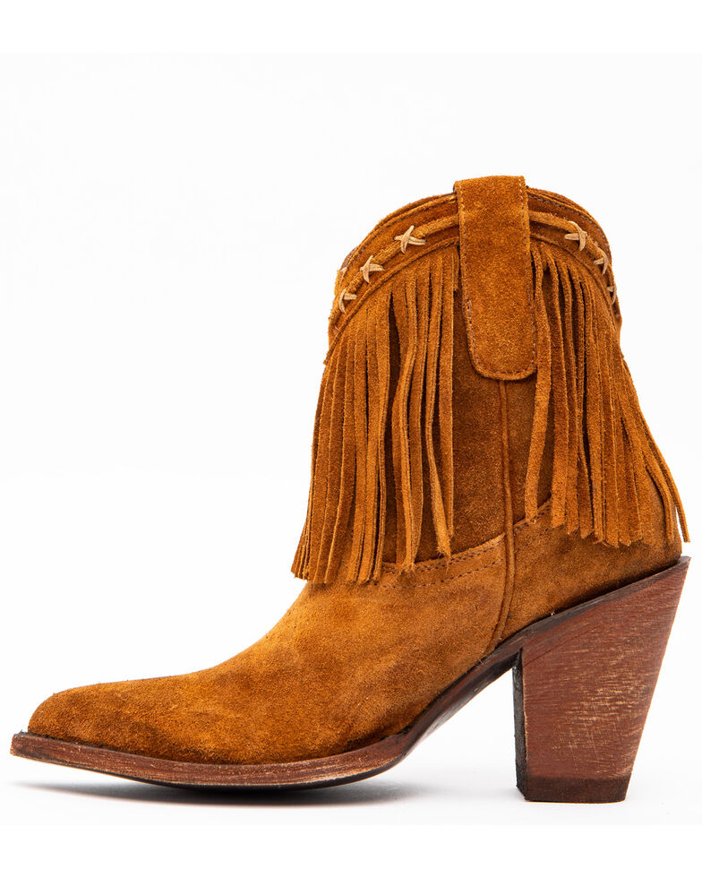 Idyllwind Women's Swagger Cowgirl Booties - Round Toe, Coffee, hi-res