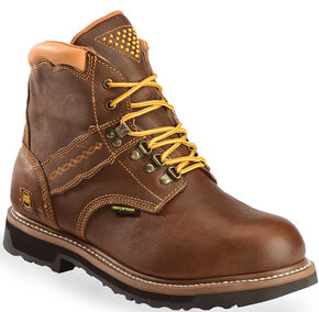 Dan Post Gripper Zipper Waterproof Lacer Boots, Brown, hi-res