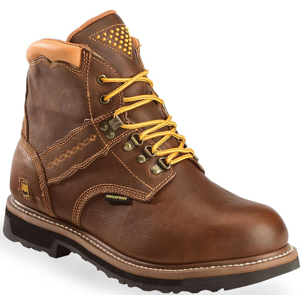 Dan Post Gripper Zipper Waterproof Lacer Boots, Brown, hi-res