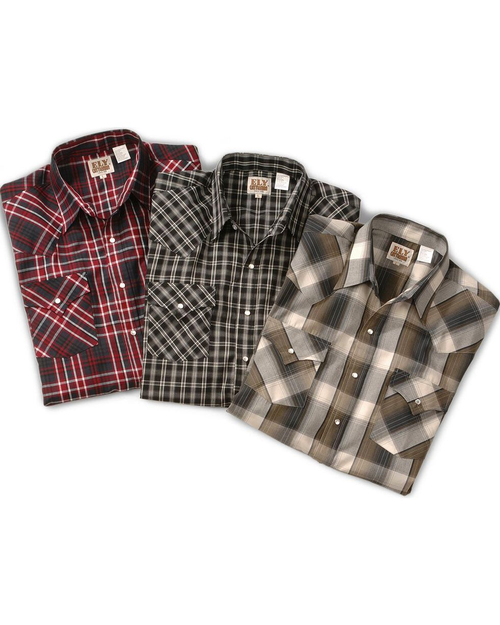 Ely Assorted Long Sleeve Western Shirt - Big & Tall, Plaid, hi-res