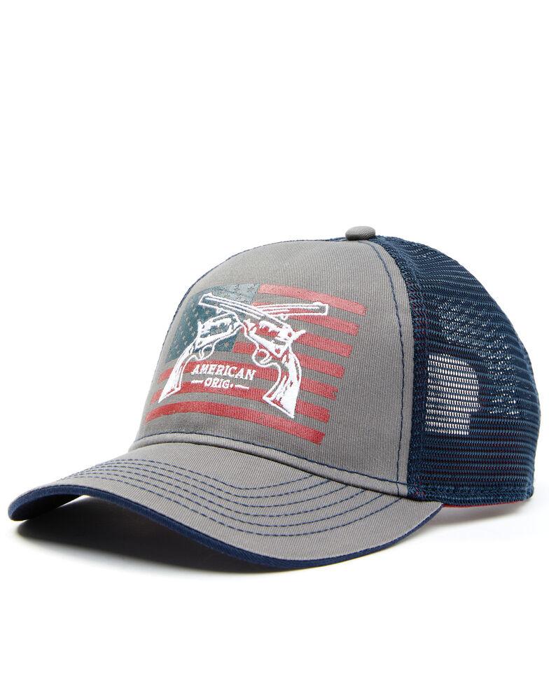 Cody James Men's Crossed Pistols Flag Graphic Mesh-Back Ball Cap , Blue, hi-res