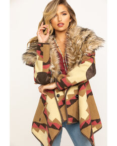 Tasha Polizzi Women's Faux Fur Elwood Jacket, Brown, hi-res