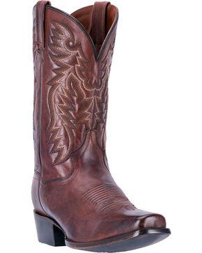 Dan Post Men's Centennial Chocolate Western Boots - Square Toe, Chocolate, hi-res