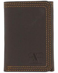 Nocona HDX Triple Stitched Tri-Fold Wallet, Brown, hi-res