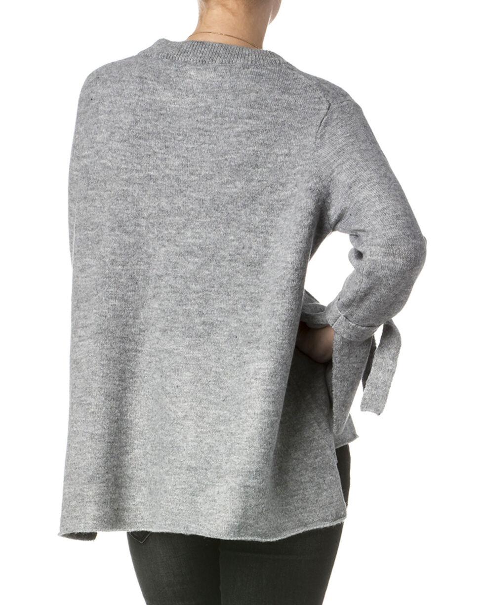 Miss Me Women's Grey Lure Me In Sweater , Grey, hi-res