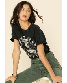 American Fighter Women's Head Over Boots For You Graphic Tee , Charcoal, hi-res