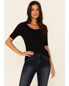 Idyllwind Women's Solid Black Brazos Way Short Sleeve Top, Black, hi-res