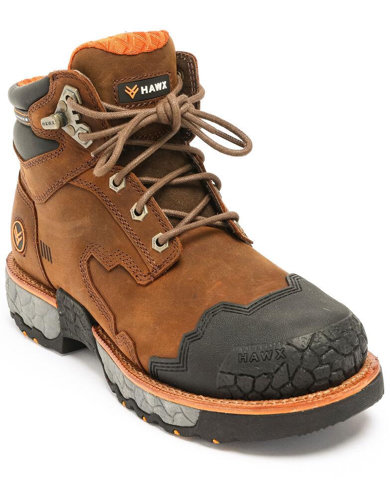 Hawx Men's Legion Work Boots - Round Toe, Brown, hi-res