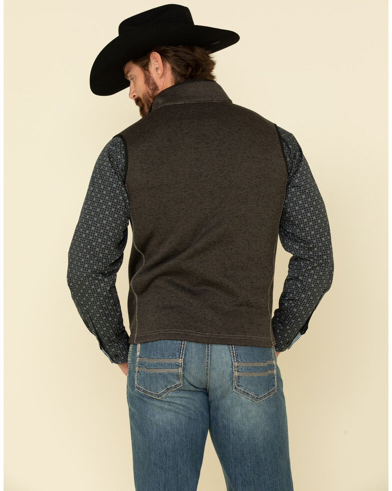 Cowboy Hardware Men's Charcoal Simple CH Fleece Vest , Charcoal, hi-res