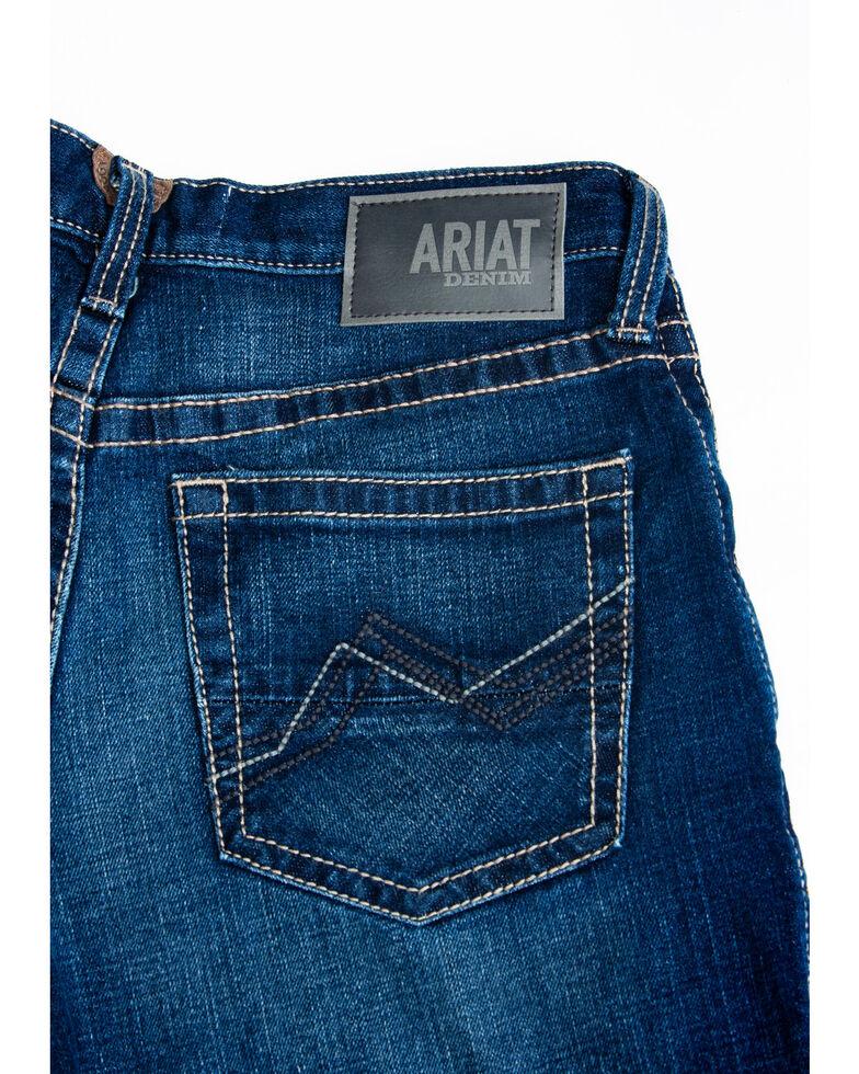 Ariat Men's M2 Denali Clyde Dark Relaxed Bootcut Jeans , Blue, hi-res