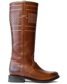 Black Star Women's Laredo Western Boots - Round Toe, Red, hi-res
