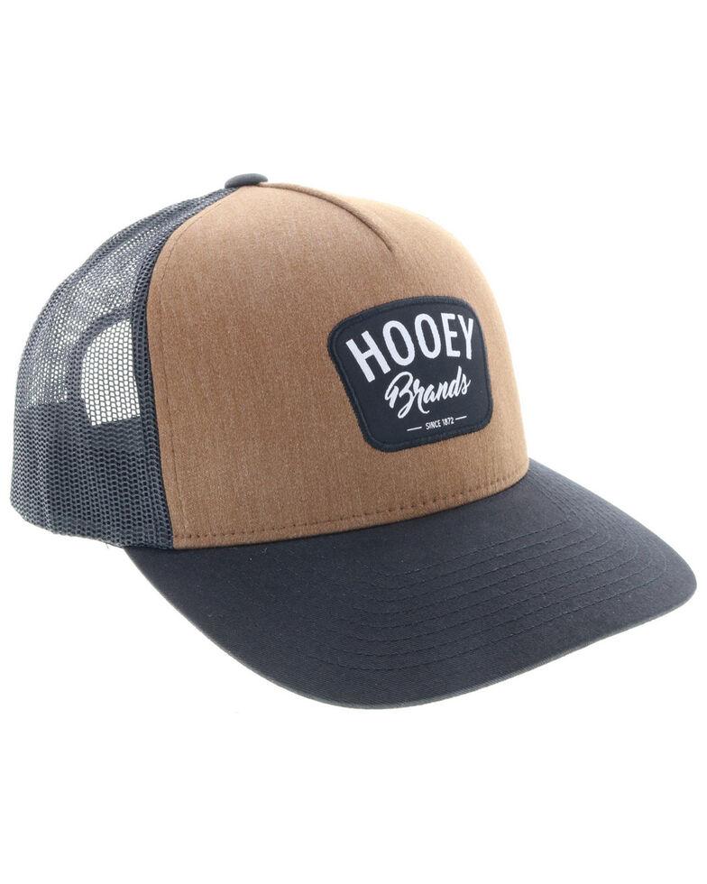 HOOey Men's Brown Hometown Cursive Logo Trucker Cap , Brown, hi-res