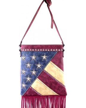 Montana West America Pride Fringe Crossbody Handbag, Red, hi-res