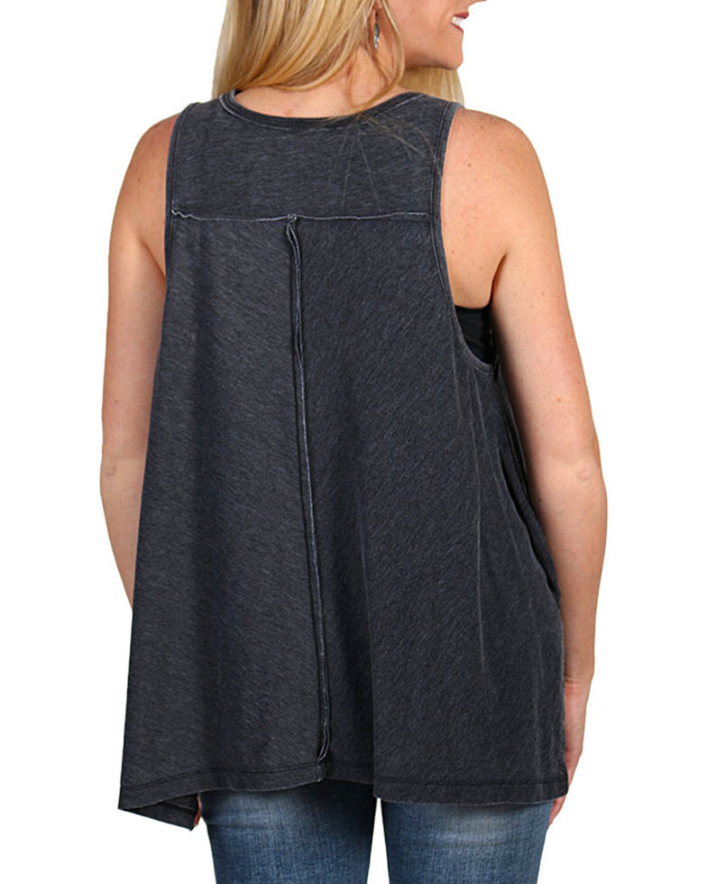 Z Supply Country Line Festival Tank Top, Charcoal, hi-res