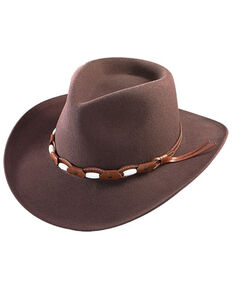 Henschel Men's Brown Orillia Crushable Wool Felt Western Outback Hat , Brown, hi-res