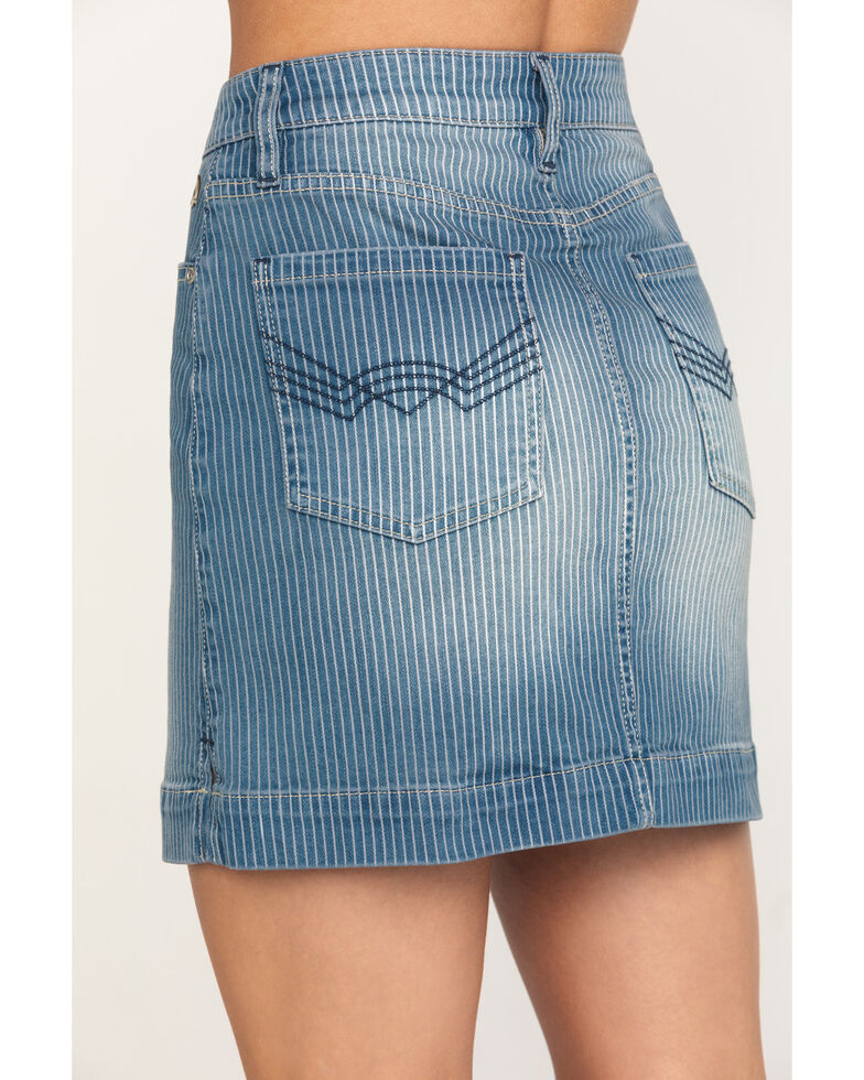 Idyllwind Women's Get in Line Mid-Rise Striped Skirt, Medium Blue, hi-res