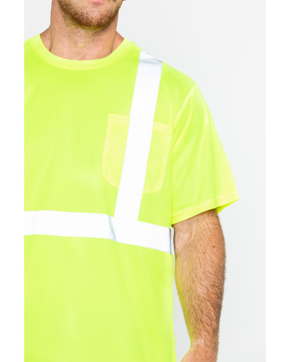 Hawx® Men's Short Sleeve Reflective Work Tee - Big & Tall, Yellow, hi-res