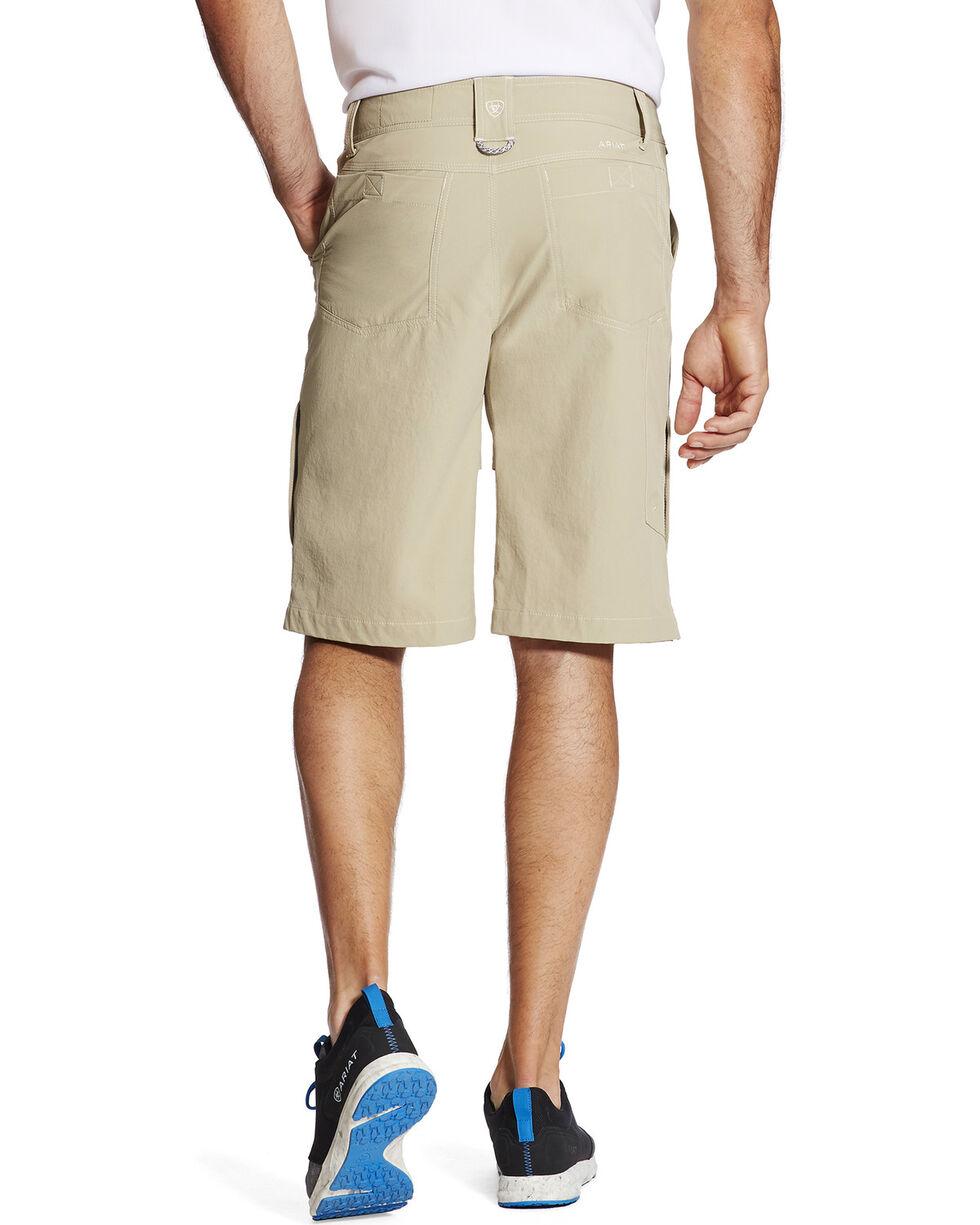 Ariat Men's Khaki Tek Cargo Shorts , Beige/khaki, hi-res