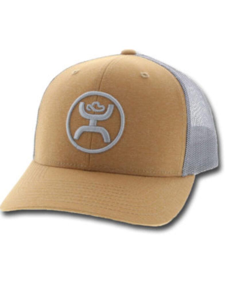 HOOey Men's Tan O Classic Mesh Back Trucker Cap , Tan, hi-res