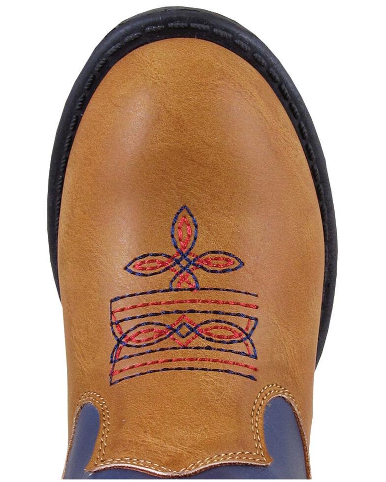 Smoky Mountain Toddler Boys' Austin Lights Western Boots - Round Toe, Tan, hi-res