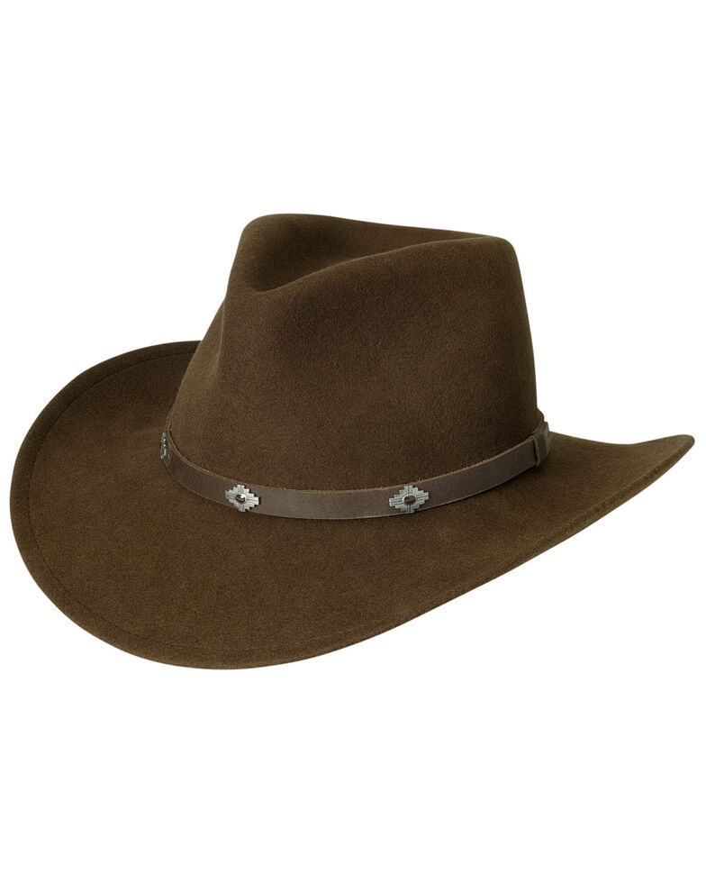 Black Creek Men's Acorn Crushable Wool Hat, Acorn, hi-res