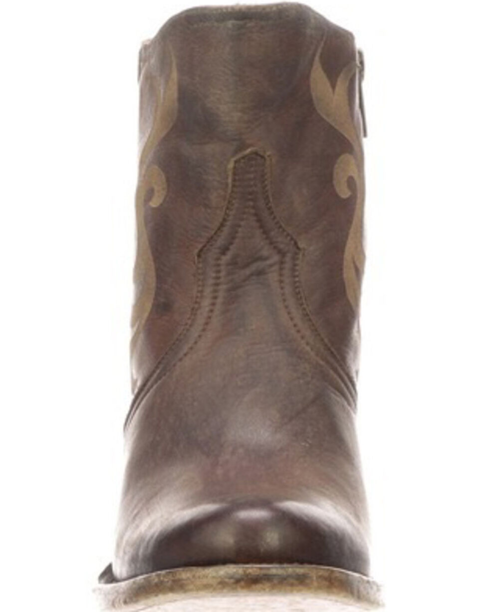 Lucchese Women's Alondra Fashion Booties - Round Toe, Chocolate, hi-res