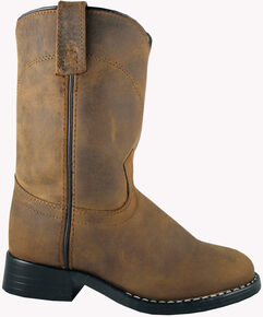 Smoky Mountain Toddler Boys' Roper Western Boots - Round Toe, Brown, hi-res