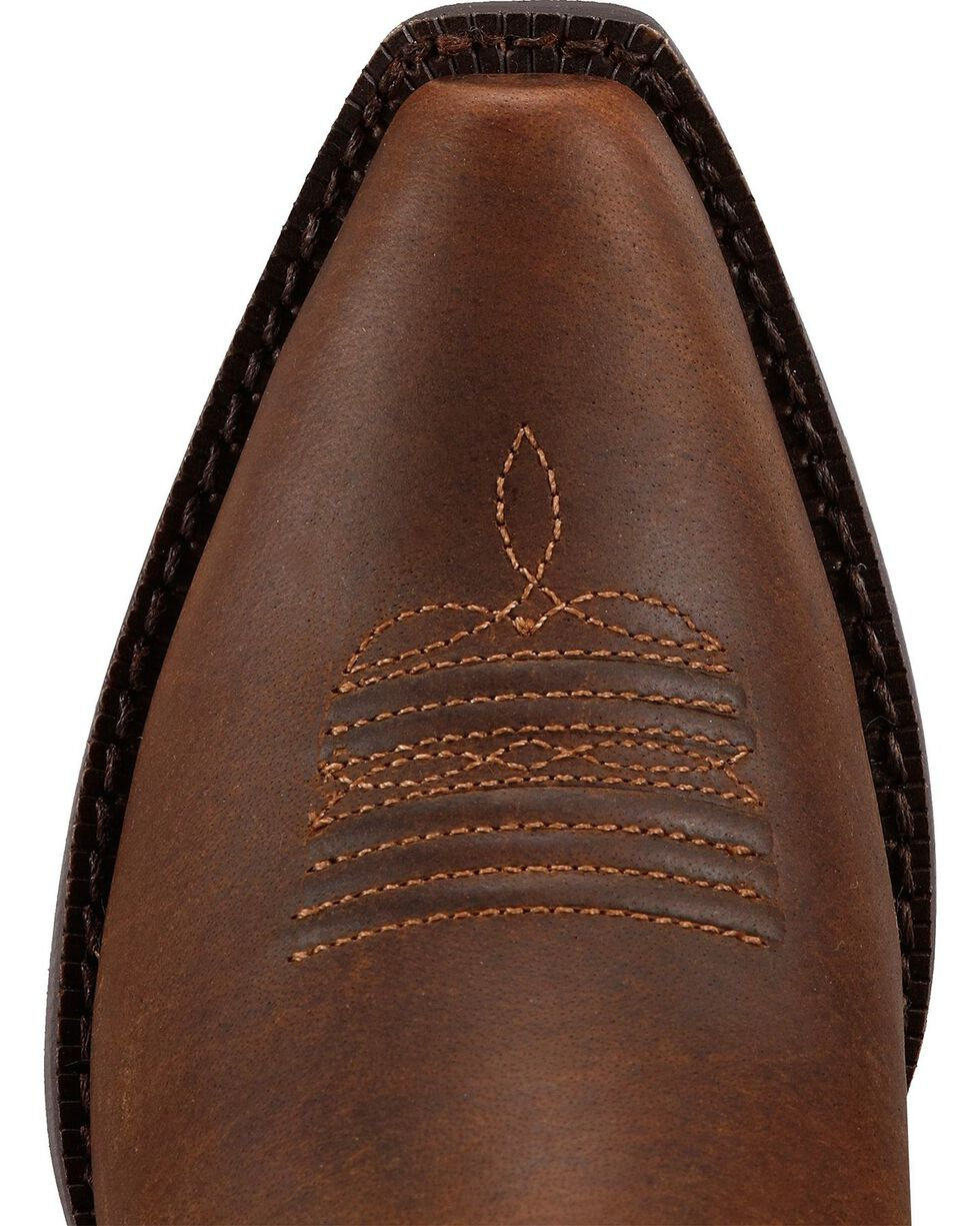 Ariat Girls' Fancy Fringe Cowgirl Boots - Snip Toe, Distressed, hi-res