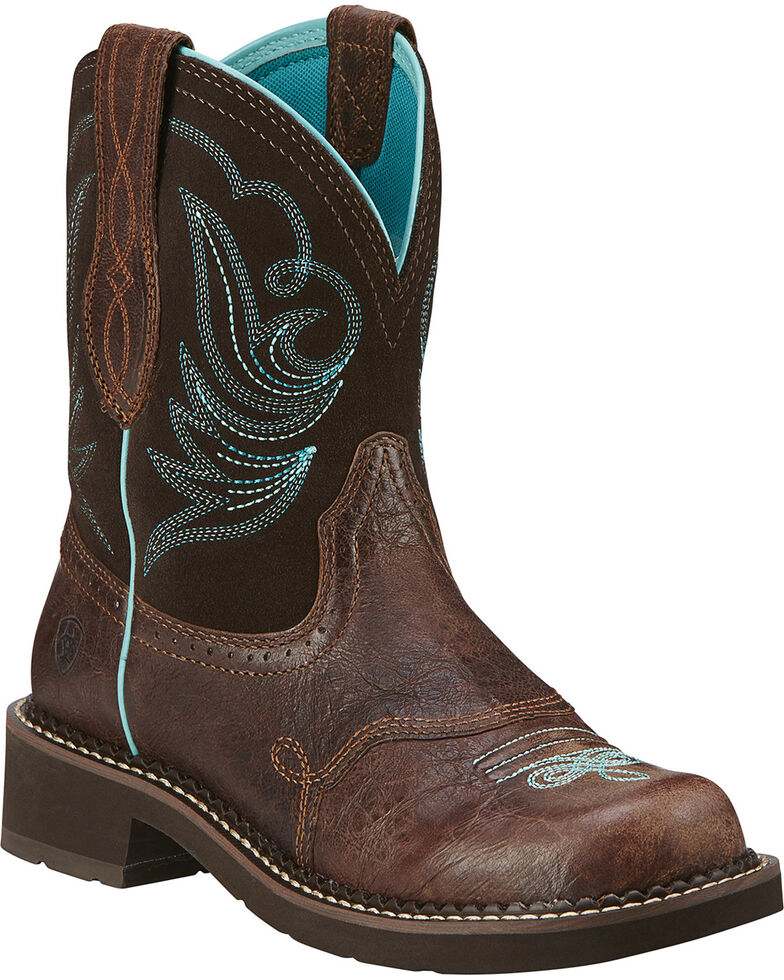 Ariat Women's Fatbaby Heritage Dapper Cowgirl Boots - Round Toe, Chocolate, hi-res