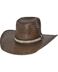 Bullhide Men's PBR Hero & Legend 50X Straw Western Hat, Brown, hi-res