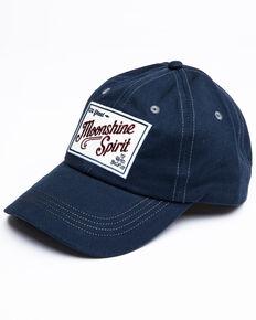 Moonshine Spirit Men's Black Embroidered Patch Ball Cap , Navy, hi-res
