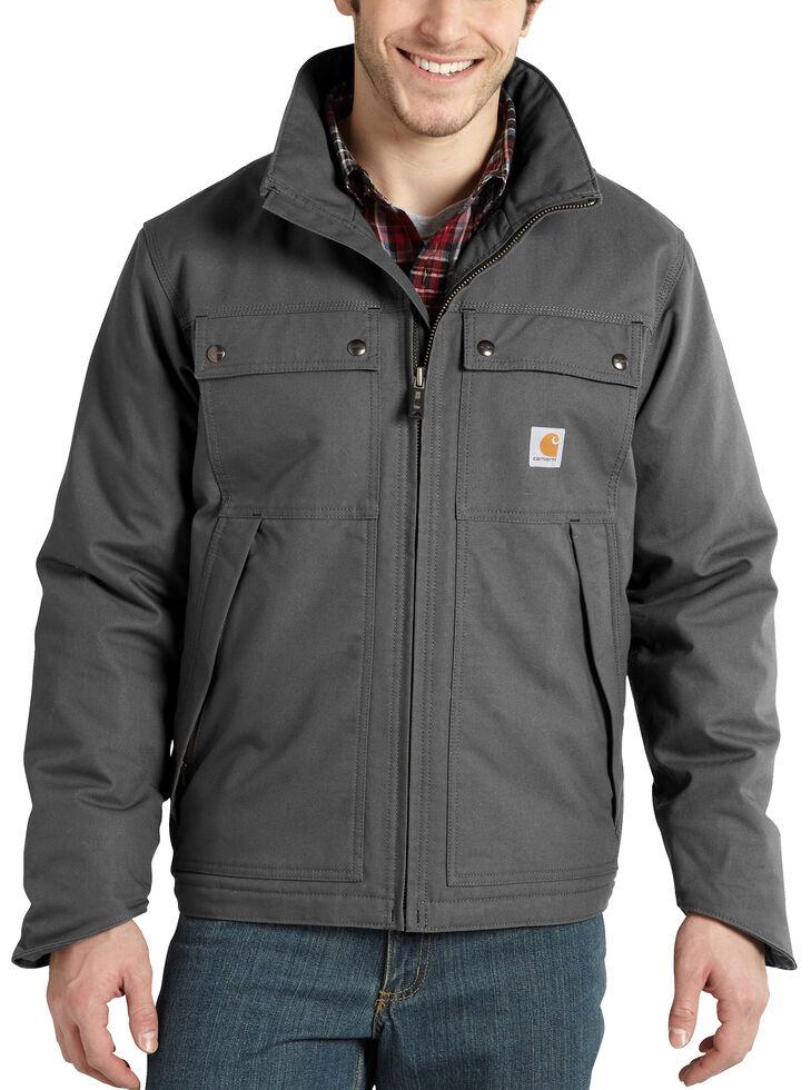 Carhartt Men's Quick Duck® Jefferson Traditional Work Jacket, Charcoal Grey, hi-res