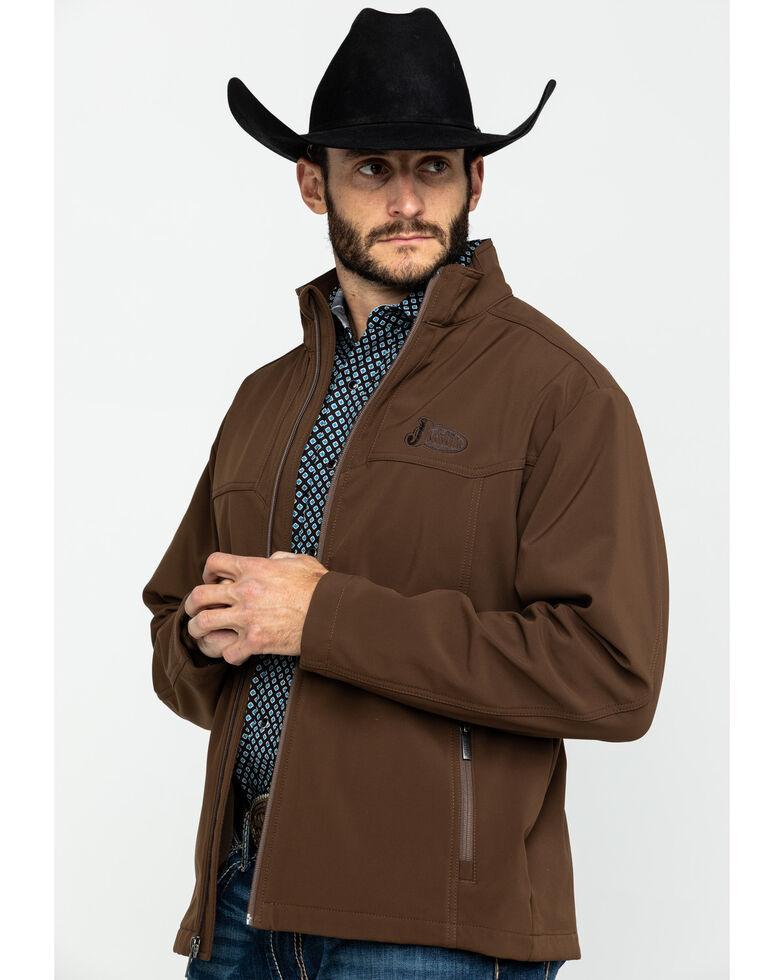 Justin Men's Chocolate Laminated Bonded Jacket , Chocolate, hi-res