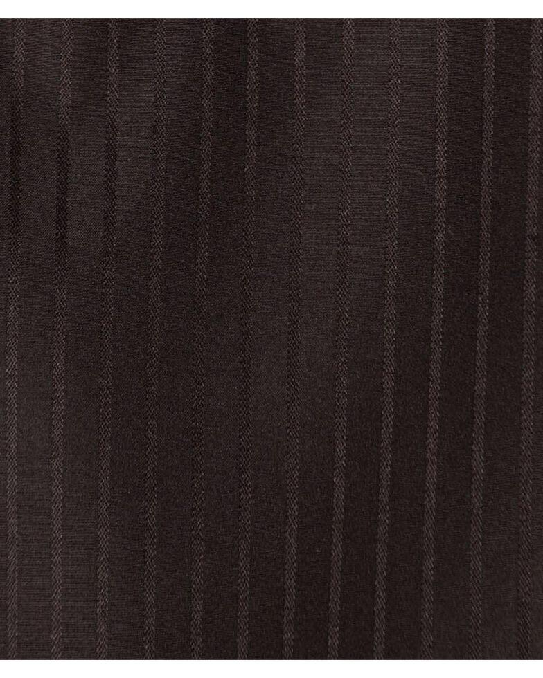 Wrangler Men's White Solid Dobby Long Sleeve Western Shirt - Big & Tall , Black, hi-res