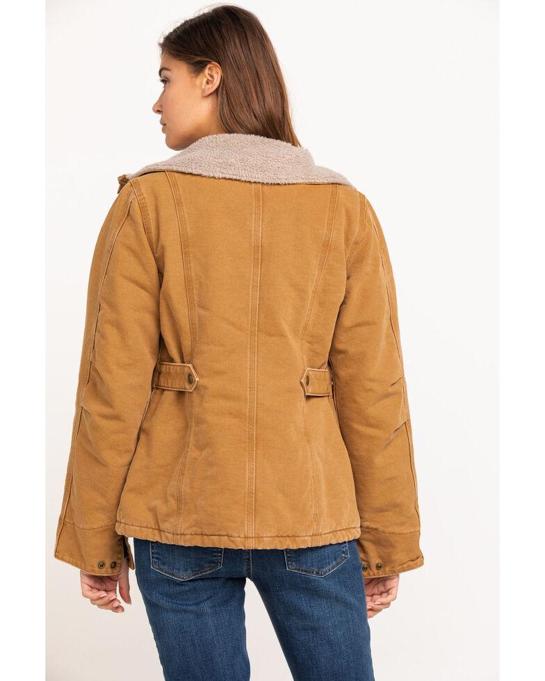Carhartt Women's Weathered Duck Wesley Coat, Brown, hi-res
