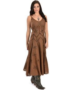 Scully Long Spaghetti Strap Dress, Copper, hi-res