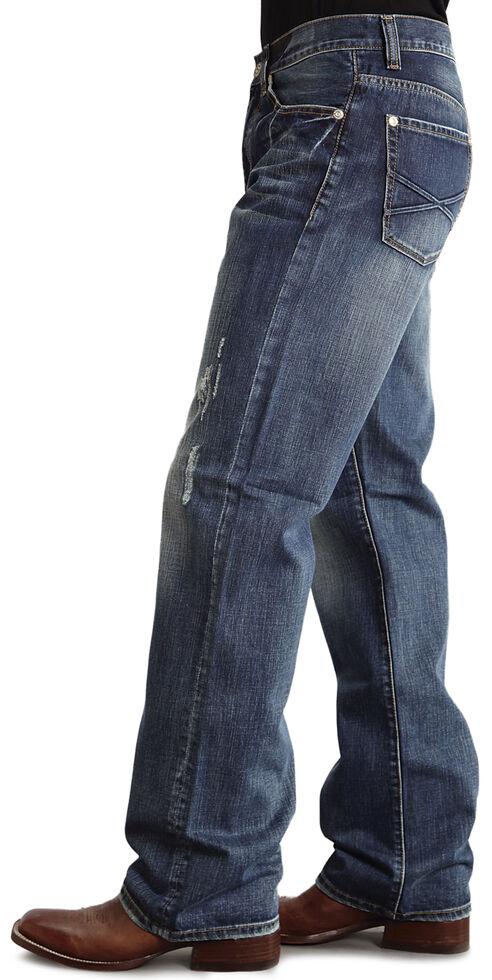 "Stetson Modern Fit Embossed ""X"" Stitched Jeans, Med Wash, hi-res"