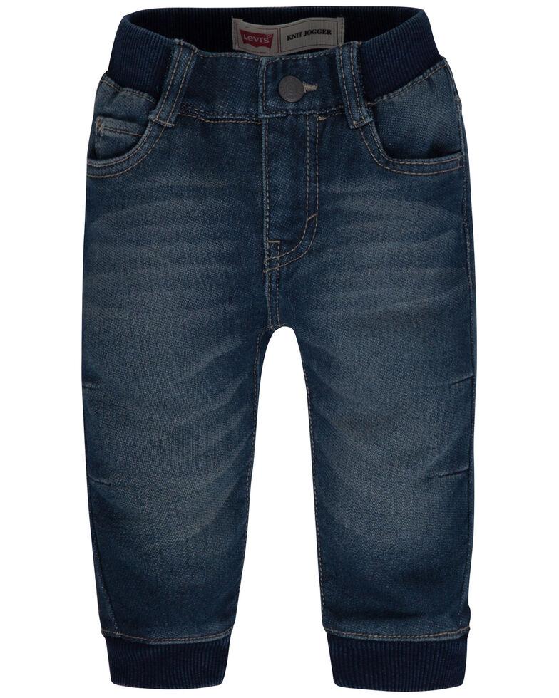 Levi's Infant Boys' Dark Wash Denim Jogger Pants , Dark Blue, hi-res