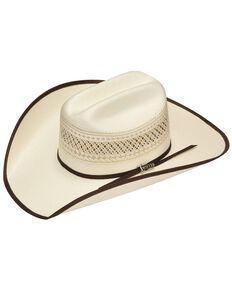 Twister 10X Shantung Double S Bound Brim Straw Cowboy Hat, Tan, hi-res