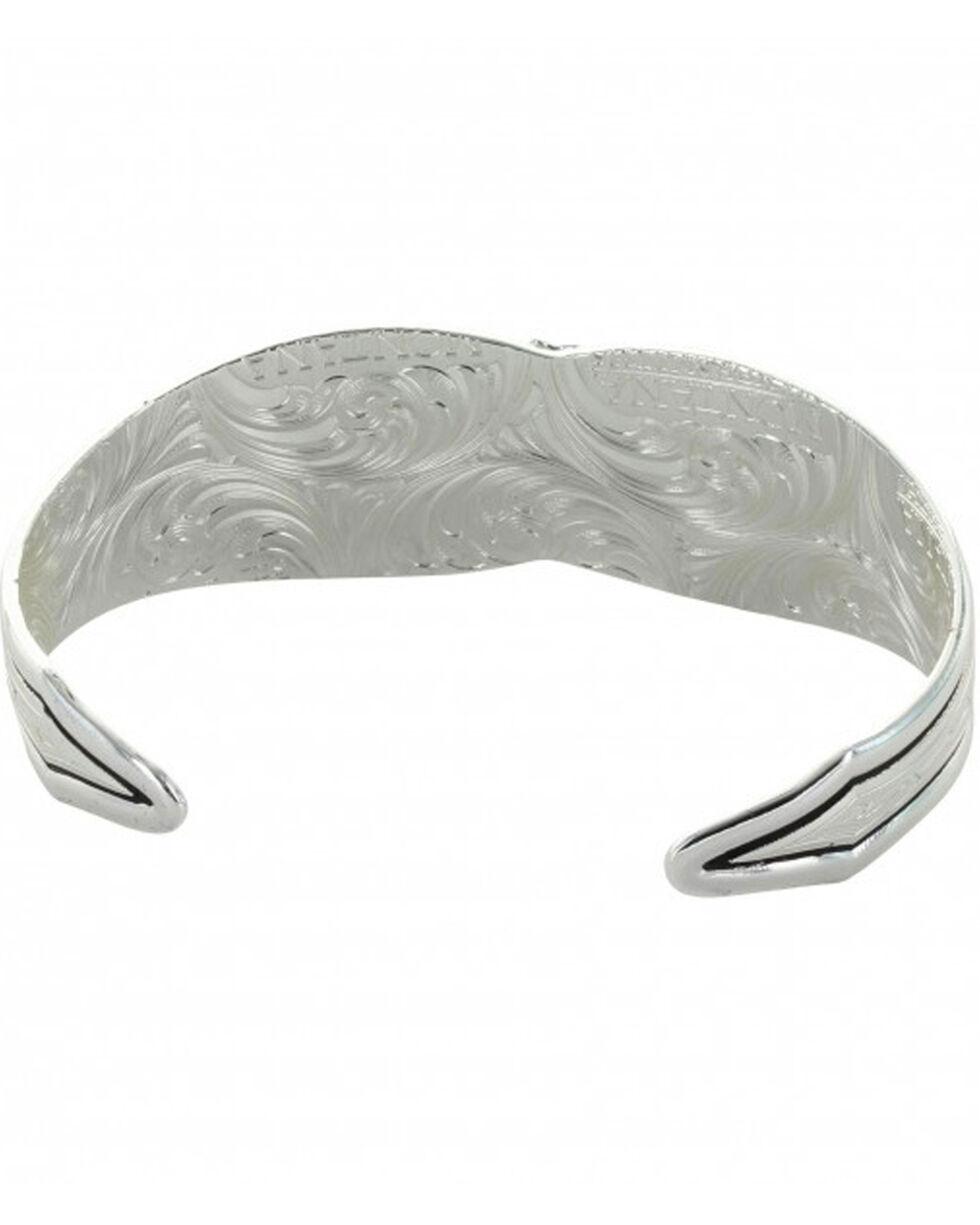 Montana Silversmiths Women's Evening Star Flower Cuff Bracelet , Silver, hi-res