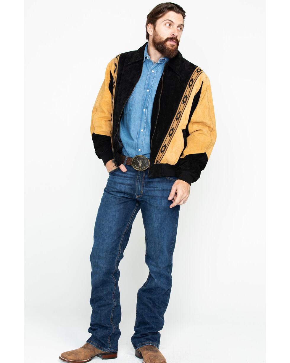 Scully Men's Two-Tone Aztec Rodeo Jacket , Black, hi-res